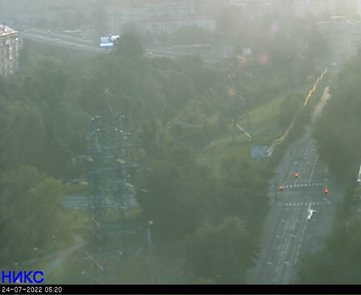 Moscow Live Cam, Russia – Mira Avenue, overpass over Metro ENEA